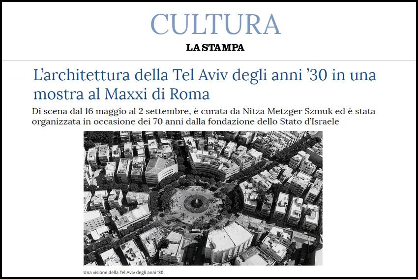 CULTURA / L'architettura della Tel Aviv degli anni '30 in una mostra al Maxxi di Roma